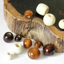 50pcs Round Wood Spacer Bead Natural Wooden Beads Ball 10/12/14/16/17/18 mm