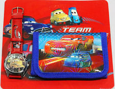 NEW KIDS WATCH AND WALLET SET BOYS ACCESSORIES DISNEY CARS BIRTHDAY FUN GIFT