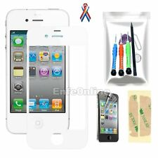 NEW Front Outer Screen Glass Lens Replacement For Apple iPhone 4 White Tools Kit
