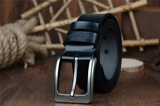 Genuine Leather Men's Pin Buckle Belts Fashion Waist Strap Belt Waistband