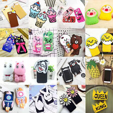 3D Cartoon Soft Silicone Phone Case Cover Back For iPhone 5/5S/5C SE 6/6S Plus