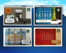 """STARBUCKS GIFT CARD *NEW* """"HAPPY FATHER'S DAY"""" COLLECTIONS #1 DAD 2012 13 14 15"""