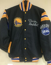 Golden State Warriors Victor Reversible WOOL Jacket - NBA Wool blend Jacket