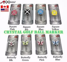 A99 3pcs Canad flag marker or 1pc Crystal Golf Ball Marker Magnetic Hat Clip