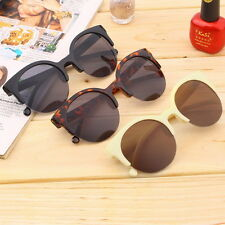 Retro Black Lens Vintage Men Women Round Frame Sunglasses Glasses Eyewear F5