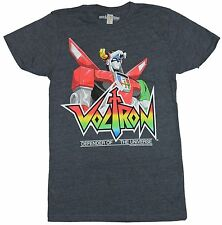 Voltron Mens T-Shirt -  Defender of the Universe Head And shoulders Over Logo