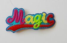 Magic word motif iron on or sew on  patch appliqué embroidery