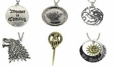 GAME OF THRONES Inspired SET of 5 Dragon Necklace Gift Jewelry Chain Birthday UK