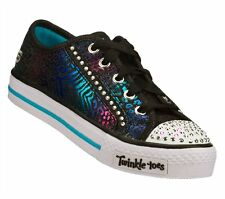 New Girl's Skechers 10331L Twinkle Toes Shufles Gimmie Glam Light Up Shoes 1-E15