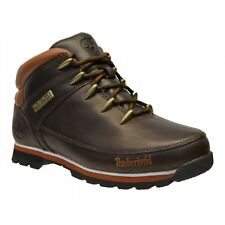 MENS TIMBERLAND EURO SPRINT DARK BROWN BOOTS HIKER NUBACK LEATHER UK SIZE 9 10