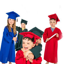 BUY SET 6 X CHILDRENS GRADUATION GOWNS & KIDS CAPS HATS COSTUMES OUTFITS AGE 3-5