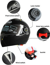 Motorcycle DOT Visor Flip Up Dual Helmet Full Face Street Bike Full Face 7 Color