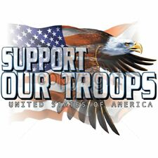 Support Our Troops Patriotic Eagle T-Shirt & Tank Tops All Sizes (4027)