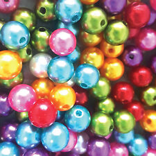 100 pcs Glass Pearl Beads round loose beads Assorted Sizes and color(10mm/12mm)