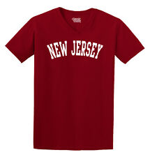 New Jersey State Printed Adult V-Neck T-Shirt
