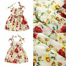 Girls Baby Toddler Kid's Clothes Sleeveless Flower Dress Party Dresses Sundress