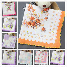 Wholesale Lot 10 Vintage Style Floral Hankies Ladies Cotton Handkerchiefs