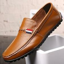 Fashion Mens slip on driving shoes leather flat moccasin gommino comfort loafer
