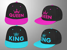 King Queen snapback couple hat pair fasion cap her him SWAG Flat Peak Unisex