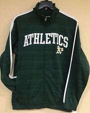 Oakland Athletics Full Zip Track Jacket-Green Color by G-III-Officially Licensed