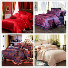 RedSatin Egyptian Cotton Queen King Size Bed Quilt Doona Cover Set Linen House