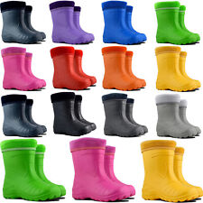 Kids Boys Girls Wellies Wellington Boots Rainy Boots EUR 22-35, UK 5-2.5