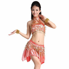 Ballroom Dress Circle Hollow Sequins Latin Dance Skirt Standard Prom Outfit
