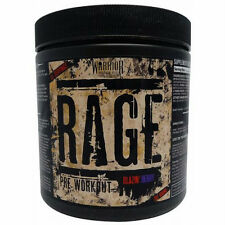 Warrior Rage Pre Workout Muscle Energy Pump 392g - 45 Servings all flavoure