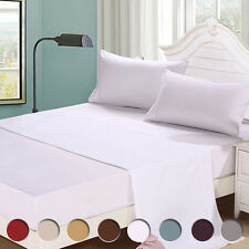4Piece Bed Sheet Set 1800 Thread Count Deep Pocket Full Twin Queen Cal King Size