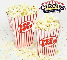 8 Traditional Popcorn Boxes/Treat Boxes/Kids Party Supplies/Circus Party/Movie