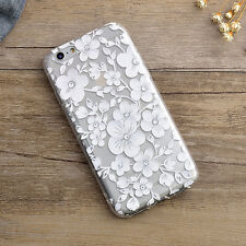 Ultra Slim Flower Pattern Clear Soft Silicone TPU Case For iPhone 6 6S 6/6S Plus