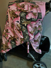 """Mossy Oak Break Up Pink Camo Baby! Infant Stroller Cover """"My 1st Deer Stand"""""""