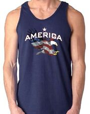 Patriotic American Flag Bald Eagle  Tank Top All Sizes & Colors (700)