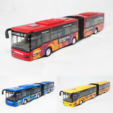 """11"""" Die-Cast Express Trolley Coach City Line Bus Red Yellow Model  Sound Light"""