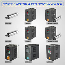 Water Cooled Spindle Motor VFD Variable Frequency Drive 2-10HP Converter 34A CE