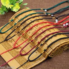 2PCS Men Women Jade Pendant Hand-woven Rope DIY Necklace Hand-knitted Cord Rope