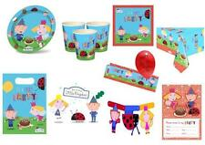 BEN AND HOLLY Birthday Party Tableware Items,Plates,Cups,Napkins,Balloons