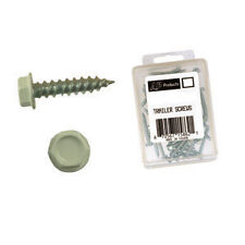 """AP Products 012-TR50 Colonial White 8"""" x 1"""" MH/RV Hex Washer Head Screw 50 Pack"""