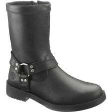 D93248 HARLEY DAVIDSON KADEN HARNESS MOTORCYCLE LEATHER BLACK/BLACK MEN BOOTS B