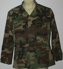 FATIGUE CAMOUFLAGE BDU COAT TOP ARMY COMBAT TOP HOT WEATHER COTTON WOODLAND