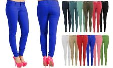 New Skinny Ladies Jeans Stretchy Jegging Women's Fit Coloured Trousers Size 8-14