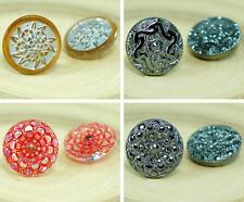 1pc Small Flower Handmade Czech Glass Buttons Size 8, 18mm