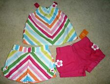 GYMBOREE RAINBOW CABANA GIRLS TOP TANK SKIRT SKORT SHORTS SET OUTFIT 2T EUC