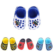 Kid Boy Girl Shoes Slip-on Summer Cartoon Frog Beach Slippers Flip Flops Sandals