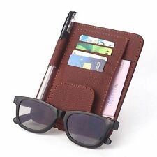 Car Glasses Clip CD Case Holder Clip Car Visor Tissue Box Cover Note Card Holder