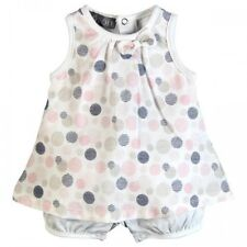 **NEW** BABY GIRLS BOBOLI PLAYSUIT 108111 DRESS WITH BLOOMERS OUTFIT