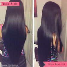 7A Full Lace Human Hair Wigs For Black Women Indian Human Hair Wig #1b Color