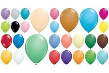 "50 Qualatex Standard Finish Helium Quality 11"" Latex Balloons Choose Colour"