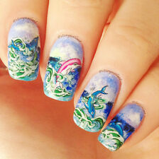 Nail Art Water Transfers Decals Stickers Fish Dolphin Pattern XF1239