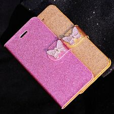 Luxury Leather Magnetic Flip Stand Bling Wallet Cover Case For iPhone 6 6s 5